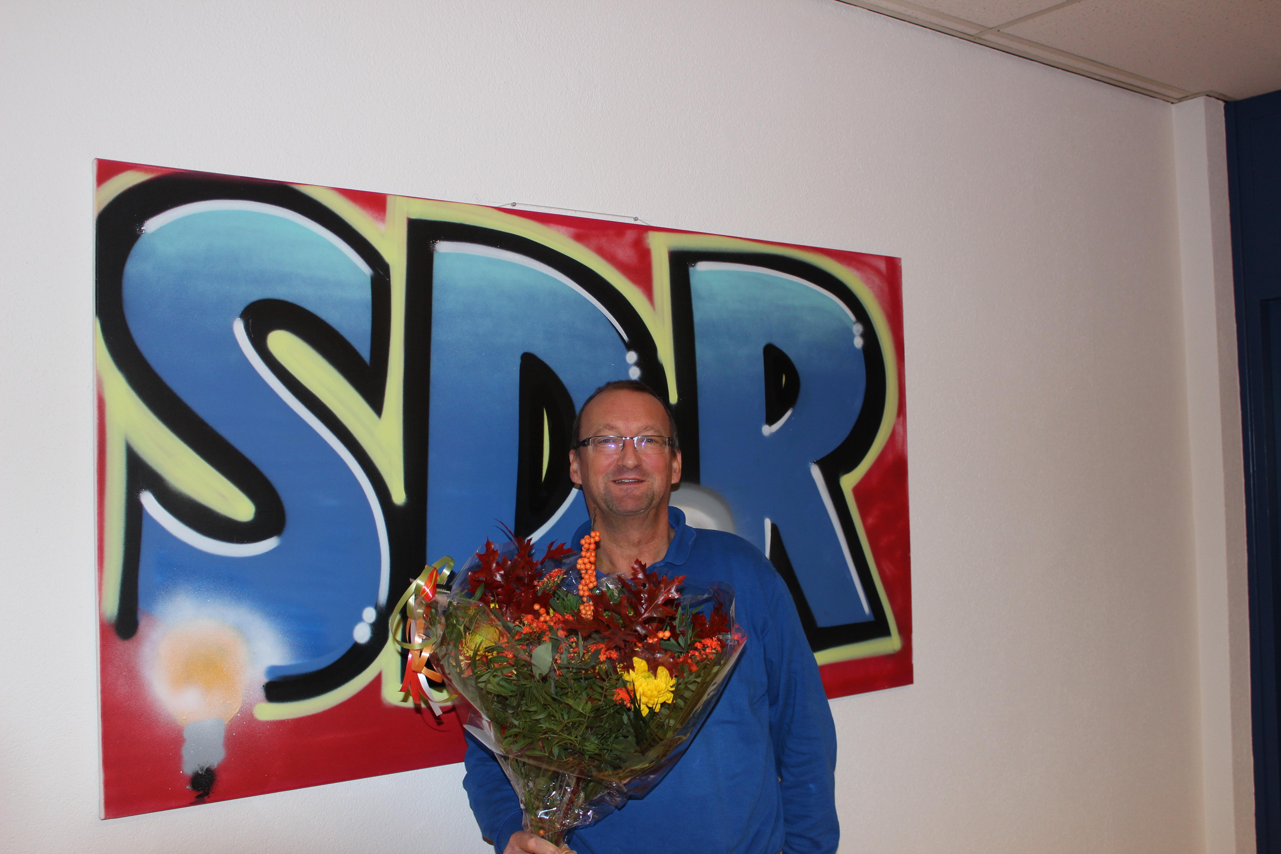 Gerrit de Boer 40 jaar bij SDR