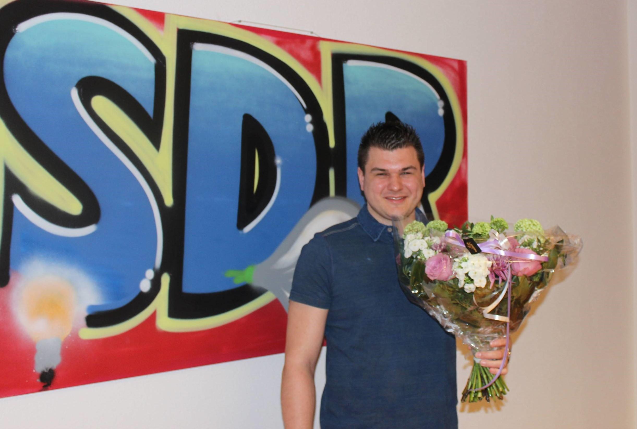 Maurice Ales 12,5 jaar in dienst bij SDR!