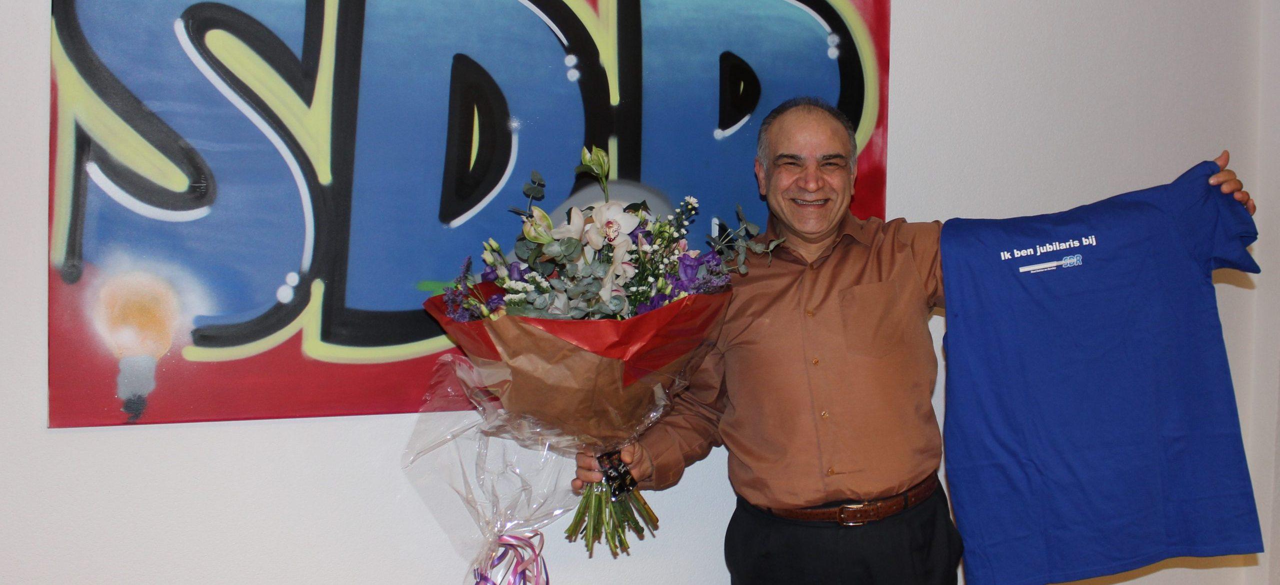 Hussein Fahimi 25 jaar in dienst bij SDR